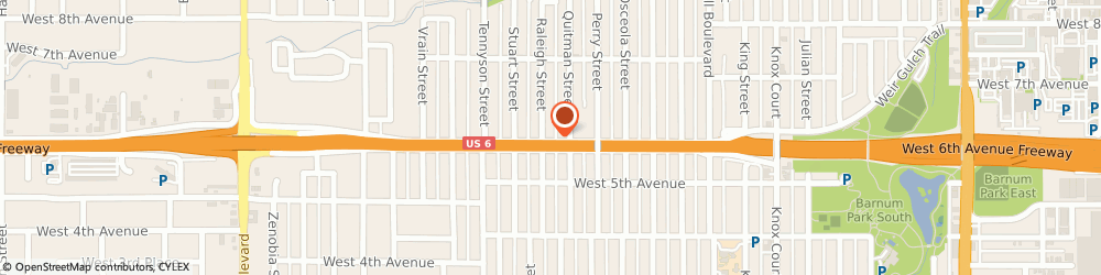 Route/map/directions to Faros Construction Services, 80204 Denver, 600 Raleigh Street