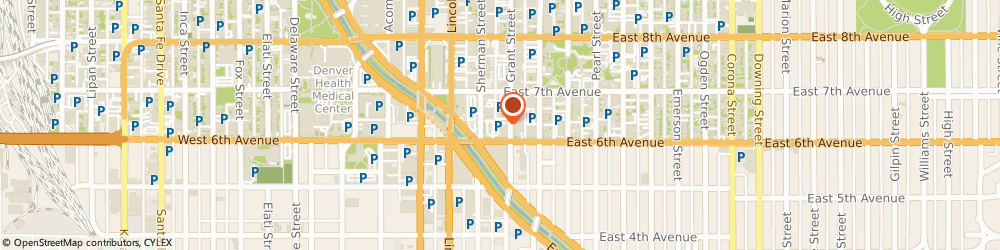 Route/map/directions to Illegal Burger Capitol Hill, 80203 Denver, 609 Grant Street