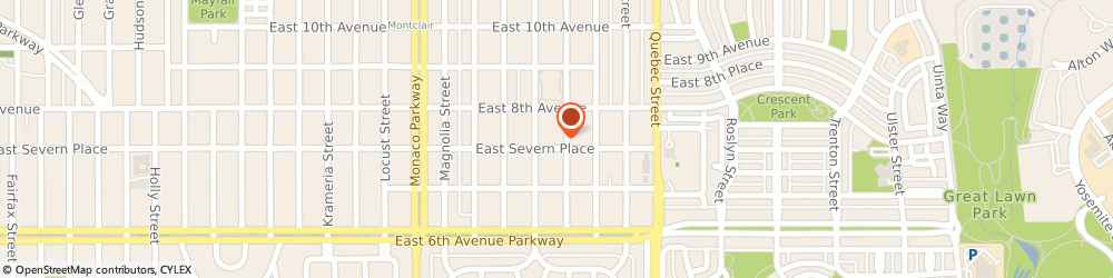 Route/map/directions to Kirsten Hamling Marketing, 80220 Denver, 765 Olive Street