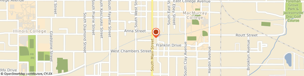Route/map/directions to State Farm Insurance, 62650 Jacksonville, 520 S MAIN ST