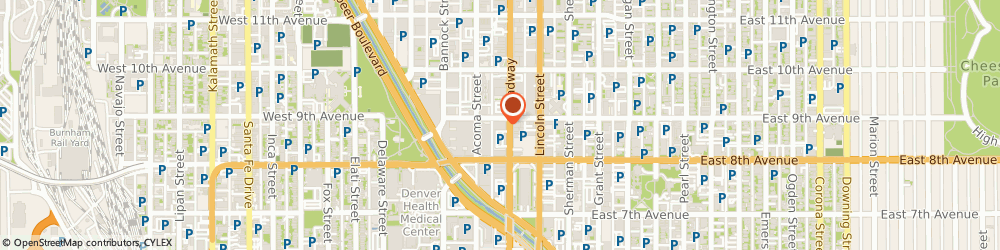 Route/map/directions to Djuna & Djuna Design Studio, 80203 Denver, 899 Broadway Street