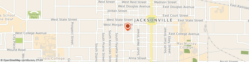 Route/map/directions to Farmers Insurance - Robert Mudd, 62650 Jacksonville, 360 W College Ave