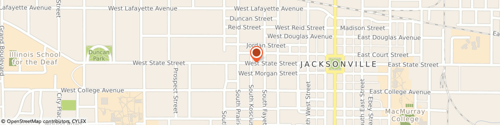 Route/map/directions to Farmers Insurance Jacksonville, Matthew Krohe, 62650 Jacksonville, 606 W STATE ST