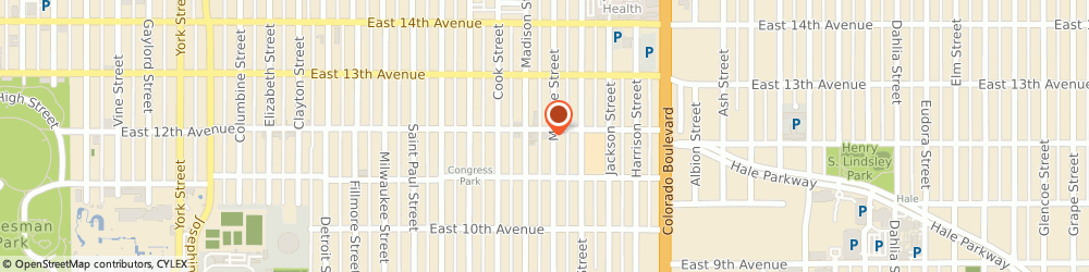 Route/map/directions to Optimization LLC, 80206 Denver, 3570 E 12th Ave #152