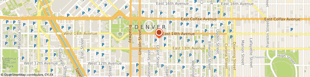 Route/map/directions to Five Star Cleaners, 80203 Denver, 1364 Grant Street