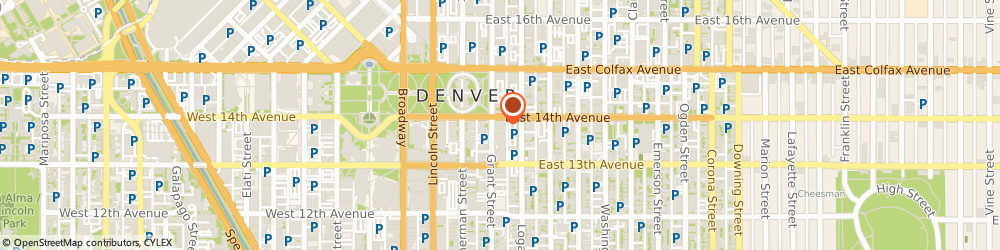 Route/map/directions to Scottish Rite Foundation Of Colorado, 80203 Denver, 1370 GRANT STREET