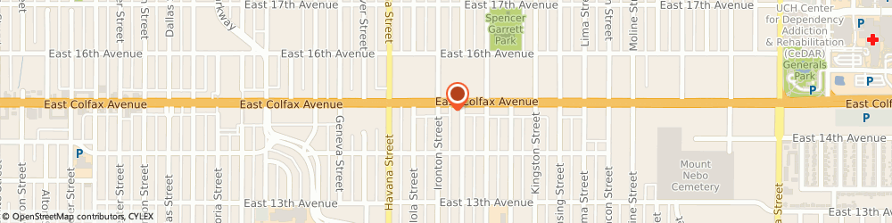Route/map/directions to K Motor Lodge, 80010 Aurora, 10730 E Colfax Ave
