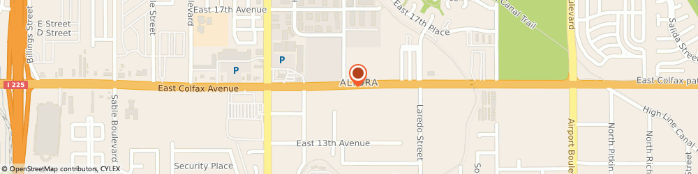 Route/map/directions to Metrix, 80011 Aurora, 15710 E Colfax Ave