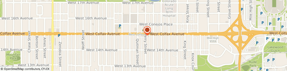 Route/map/directions to McDonald's, 80204 Denver, 4020 West Colfax