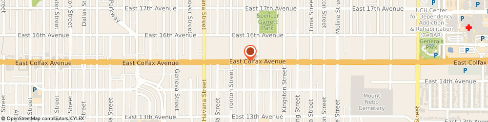 Route/map/directions to Kim Robards Dance, 80010 Aurora, 9990 E Colfax Ave