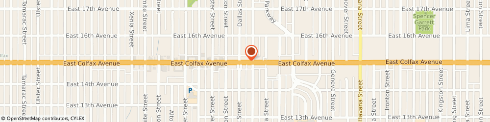 Route/map/directions to Professional Auto Insurance, 80010 Aurora, 9621 E COLFAX AVE