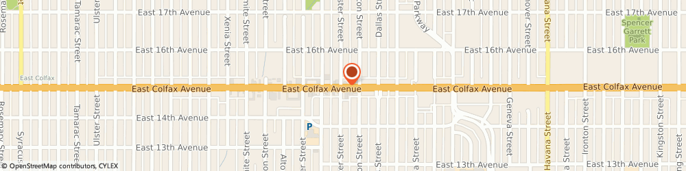 Route/map/directions to Los Toritos Restaurant, 80010 Aurora, 9405 E Colfax Ave