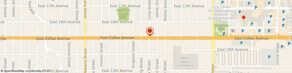 Route/map/directions to Park Motel, 80010 Aurora, 11255 E Colfax Ave