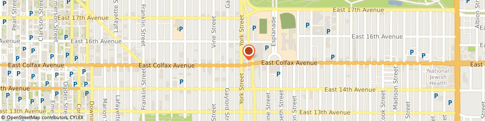Route/map/directions to Quality Distribution Co, 80206 Denver, 1510 YORK ST