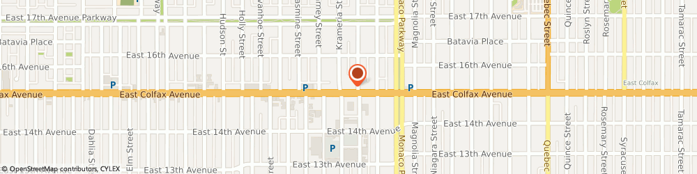 Route/map/directions to McDonald's, 80220 Denver, 6201 E Colfax Ave