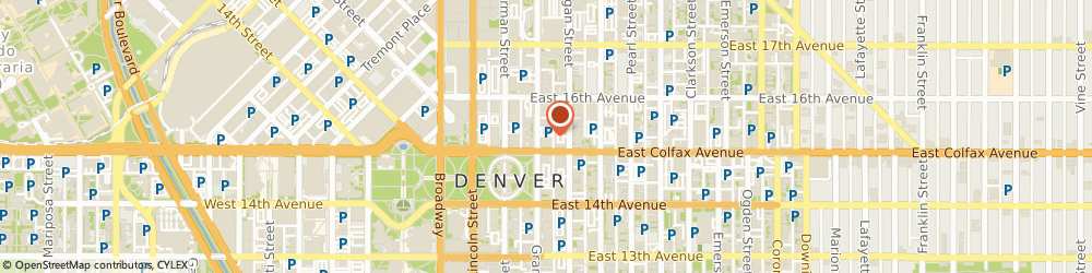 Route/map/directions to Colorado Education Association, 80203 Denver, 1500 Grant Street