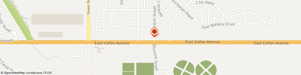 Route/map/directions to Aurora Point Plaza, 80011 Aurora, 19275 E Colfax Ave
