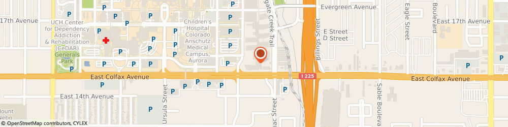 Route/map/directions to University Physicians Inc, 80011 Aurora, 13611 E COLFAX AVE