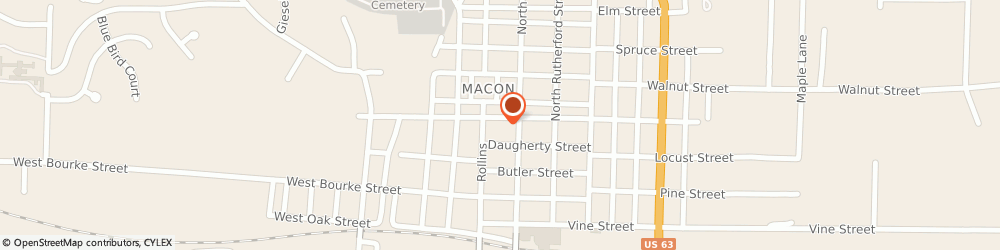 Route/map/directions to Navy Federal Credit Union, 63552 Macon, 318 North Rollins Street