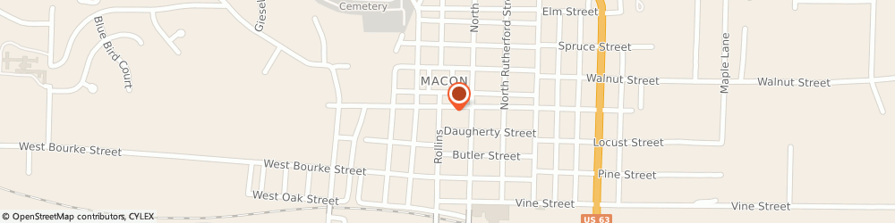 Route/map/directions to Citibank ATM, 63552 Macon, 318 North Rollins Street