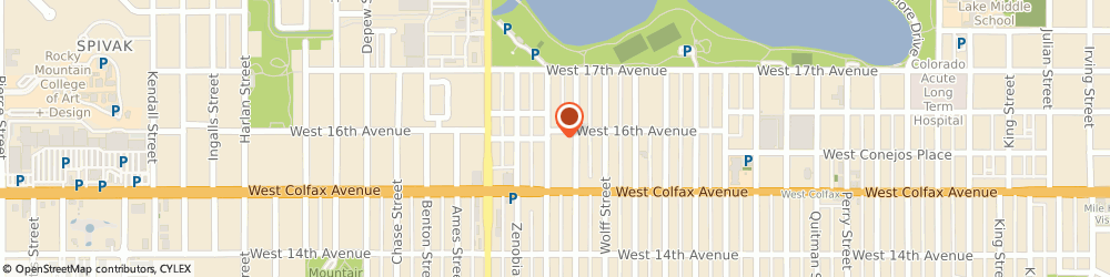 Route/map/directions to The elements at Sloan's Lake, 80204 Denver, 1590 Yates Street