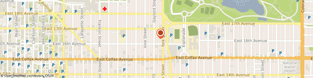 Route/map/directions to C l e International, 80206 Denver, 1620 Gaylord Street