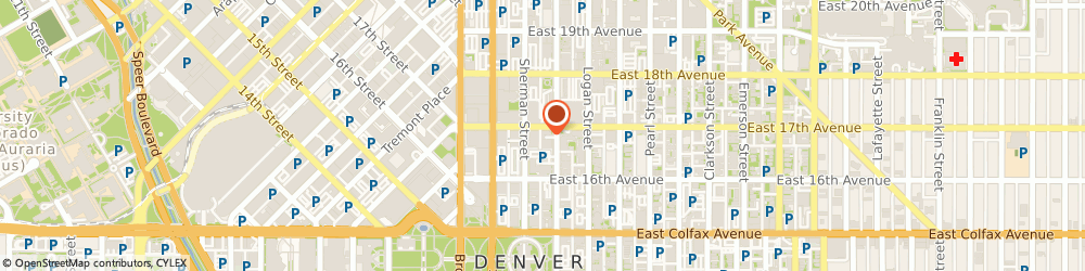 Route/map/directions to dyntell, 80203 Denver, 1665 Grant Street