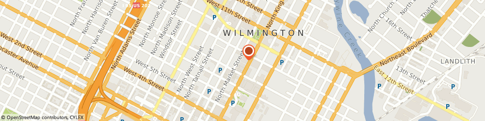 Route/map/directions to Edible Arrangements, 19801 Wilmington, 824 North Market Street