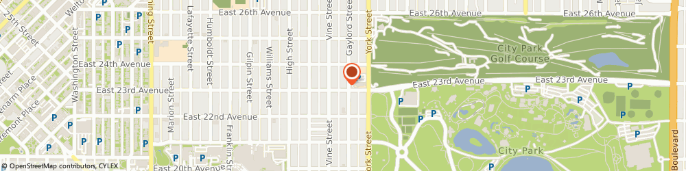 Route/map/directions to St Ignatius Loyola Catholic Church, 80205 Denver, 2305 GAYLORD STREET