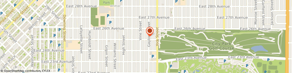 Route/map/directions to Dominican Sisters Of Hope, 80205 Denver, 2501 GAYLORD STREET