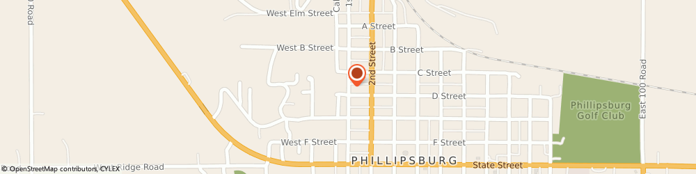 Route/map/directions to First Lutheran Church, 67661 Phillipsburg, 1035 1St St