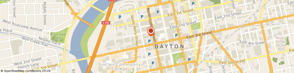 Route/map/directions to CBRE, 45402 Dayton, 130 W. Second Street