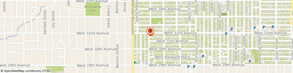 Route/map/directions to Small Media & Large, 80212 Denver, 3121 YATES STREET