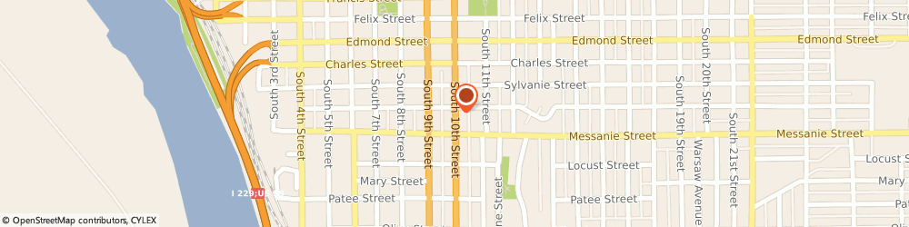 Route/map/directions to Crr, 64501 Saint Joseph, 525 SOUTH 10TH STREET
