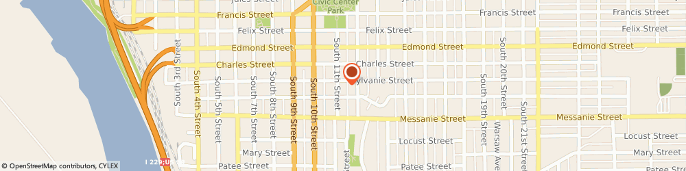Route/map/directions to Alanon Family Group, 64501 Saint Joseph, 401 SOUTH 11TH STREET