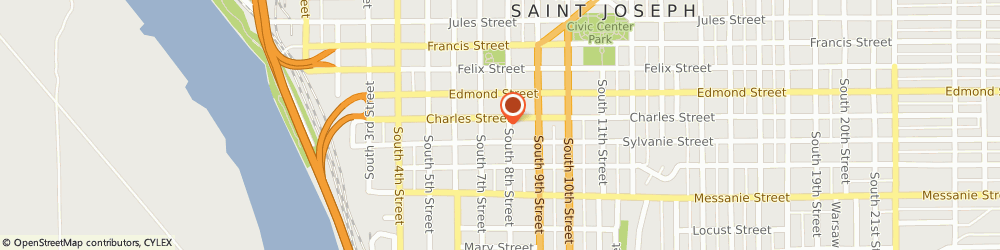 Route/map/directions to Bath and Kitchen Encounters Of St Joseph, 64501 Saint Joseph, 302 SOUTH 8TH STREET