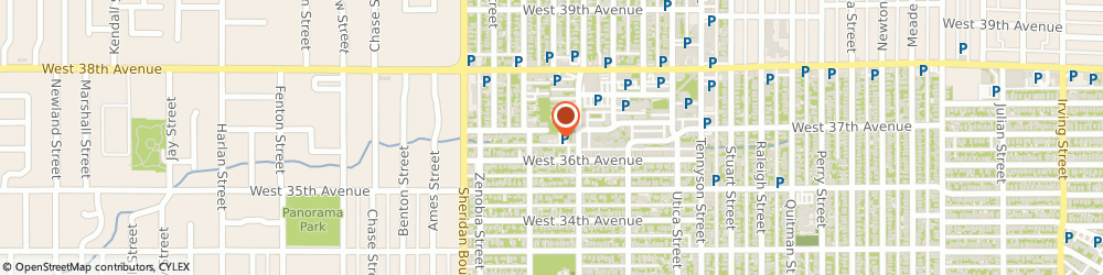 Route/map/directions to All Saints Episcopal Church, 80212 Denver, 3650 YATES STREET