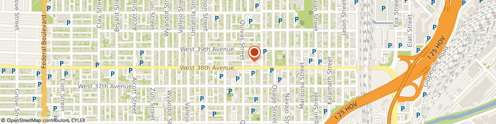 Route/map/directions to Subway, 80211 Denver, 1777 W 38th Ave