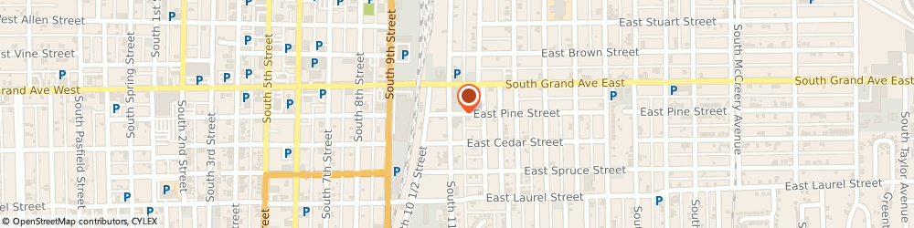 Route/map/directions to Second Timothy Baptist Church, 62703 Springfield, 1122 E PINE ST