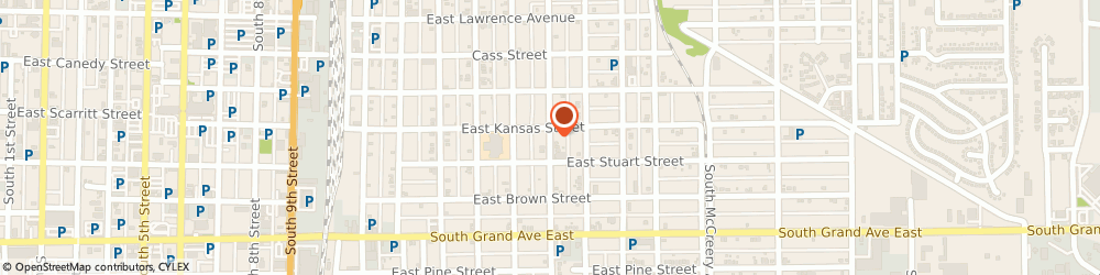 Route/map/directions to St Paul Ame Church, 62703 Springfield, 1130 S 16TH ST