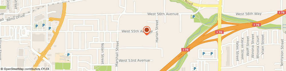 Route/map/directions to E & J Cabinets, 80002 Arvada, 6110 West 55th Ave.