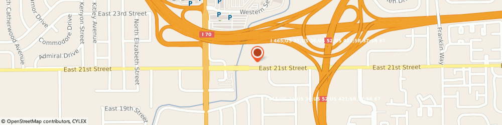 Route/map/directions to Indianapolis Marriott East, 46219 Indianapolis, 7202 East 21st Street