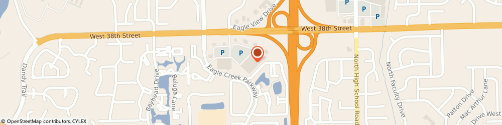 Route/map/directions to Pizza Hut Express, 46254 Eagle Creek, 6925 W. 38th Street