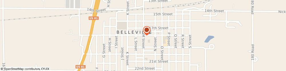 Route/map/directions to Best Western Bel-Villa Motel, 66935 Belleville, JUNCTION 36 AND 81 HWAYS