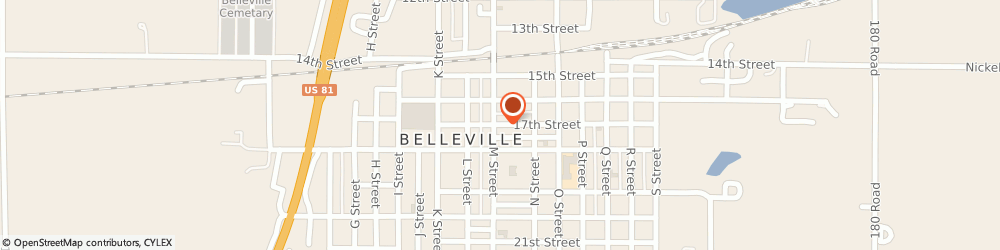 Route/map/directions to The American Legion Robert e. Gordon, 66935 Belleville, 1318 17Th St