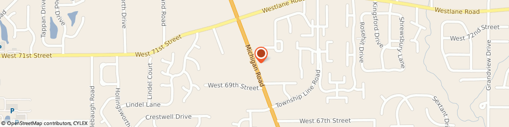 Route/map/directions to Servi-Call, 46268 Indianapolis, 6999 MICHIGAN ROAD # C