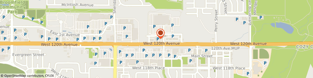 Route/map/directions to JACK IN THE BOX INC., 80020 Broomfield, 4640 W 121St Ave