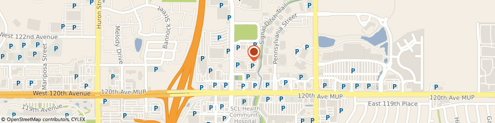 Route/map/directions to Space Imaging Eosat, 80241 Denver, 12076 GRANT STREET