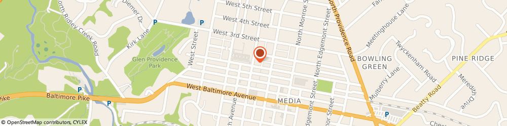Route/map/directions to COMFORCARE MEDIA, 19063 Media, 111 North Olive Street
