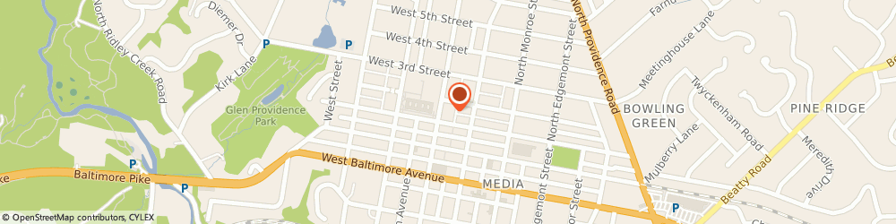 Route/map/directions to ComForCare Home Services, 19063 Media, 111 North Olive Street